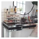 (OM40) 5 Tier Cosmetic Organiser The 5 tier display features 4 large removable drawers with ...