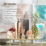 (OM18) Copper Cocktail Making Set, 11 Piece Parisian Shaker Set Gift Rose Gold. THE SHOWPIEC...