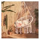 (OM34) Hanging Chair Bring style & comfort to your home Suitable for indoor & outdoor use Po...