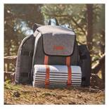 (OM22) Ash Picnic Backpack for 4 Includes 4 BPA-free plates, 4 stainless steel knives, forks &...