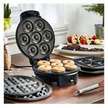 (OM27) Doughnut, Brownie & Waffle Maker Make 7 delicious mini doughnuts, 4 scrumptious brownie...