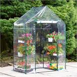 (OM33) Compact Walk In Greenhouse with 6 Shelves. A great addition to any garden! Perfect for r...