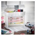 (OM5) Storage Carry Case Ideal for storing arts & crafts supplies, sewing bits, jewellery, acc...