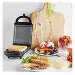(OM43) 460W 2 in 1 Snack Maker Detachable grill and waffle plates finished with a non-stick co...