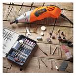 (OM7) Rotary Multitool & Accessory Set Versatile rotary multitool with a 170W motor 120 piec...