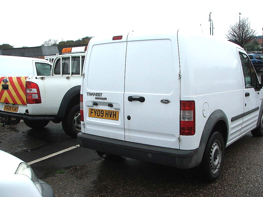 Lot 753 - WHITE FORD CONNECT T230L VAN 09 PLATE 64880 MILES MOT 03 2018