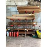 CANTILEVER RACKING 10 arms, 4 levels, 1150mm space between arms, 2 uprights 4.2m, 2 uprights 3.2m,