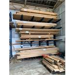 4.2m high CANTILEVER RACKING 1m space, 4 levels, 15 arms, 5 uprights