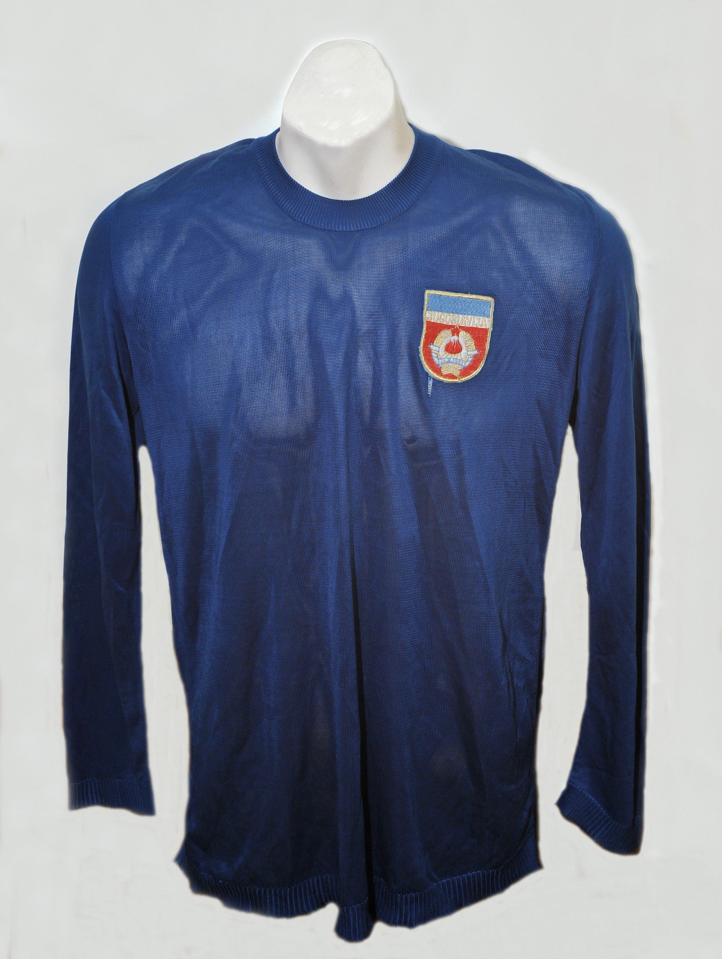 a17ac6715ff Yugoslavia 1974 Match Worn Shirt v England  Very controversial away ...