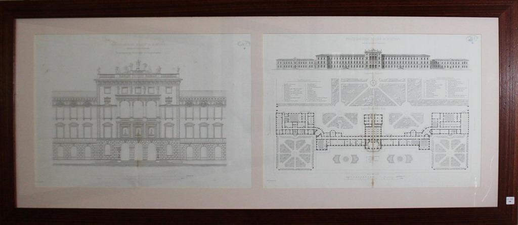 Lot 49 - Litografia architettonica del palazzo Ploytechnische Scule in Munichen, della collezione Giuseppe