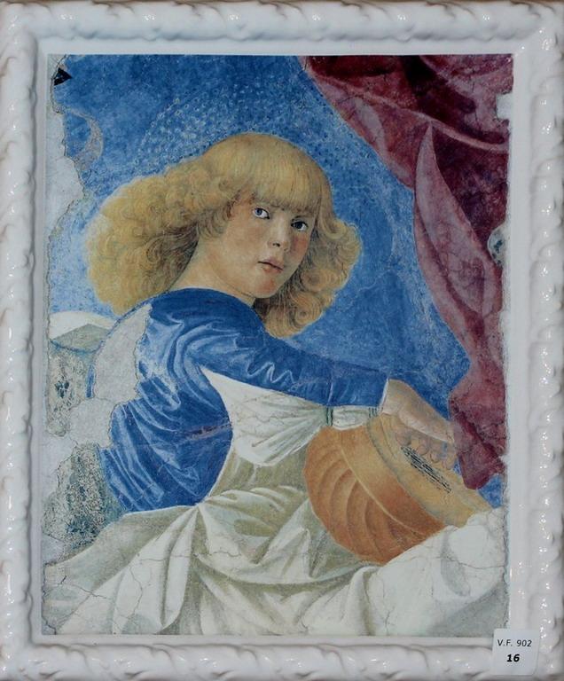 Lot 16 - Dipinto su porcellana, con cornice, cm. 25x30