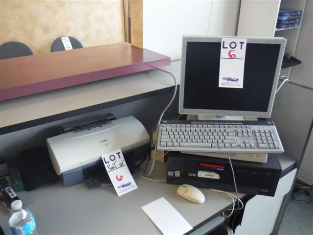 Lot 6 - COMPUTER, MONITOR, PRINTER, ETC.Sold as a lot