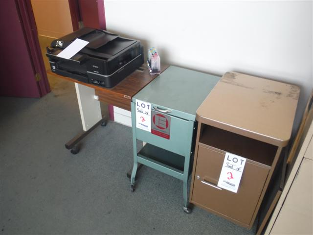 Lot 2 - ASST'D PRINTERS, CABINETS, ETC.Sold as a lot