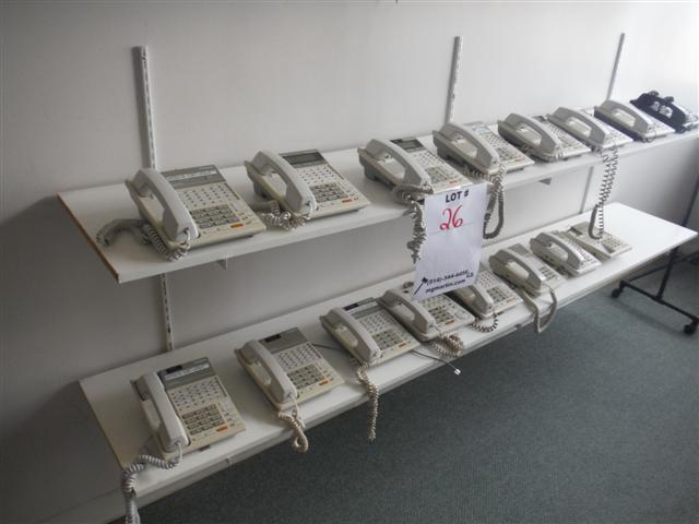 Lot 26 - PANASONIC 14 PHONE SYSTEM, 2X DIGITAL HYBRID SYSTEM,Sold as a lotVOICE PROCESSING SYS. #TVP50, ""