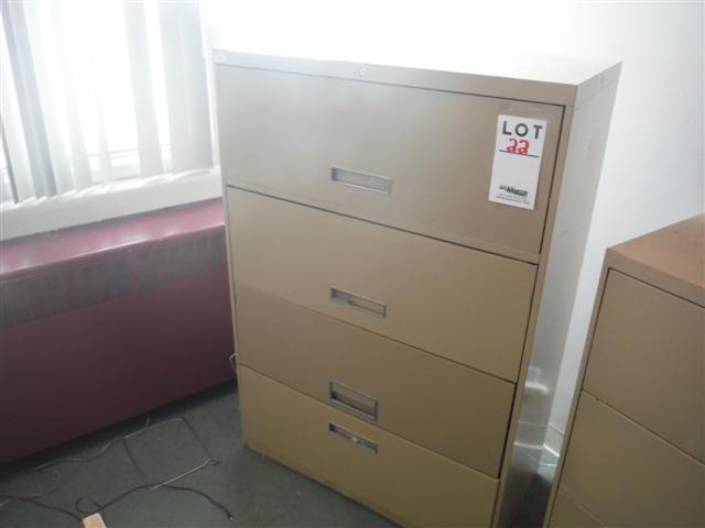 Lot 22 - 4 DRAWER LATERAL FILE CABINET