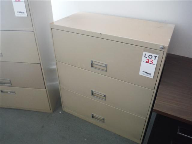 Lot 23 - 3 DRAWER LATERAL FILE CABINET