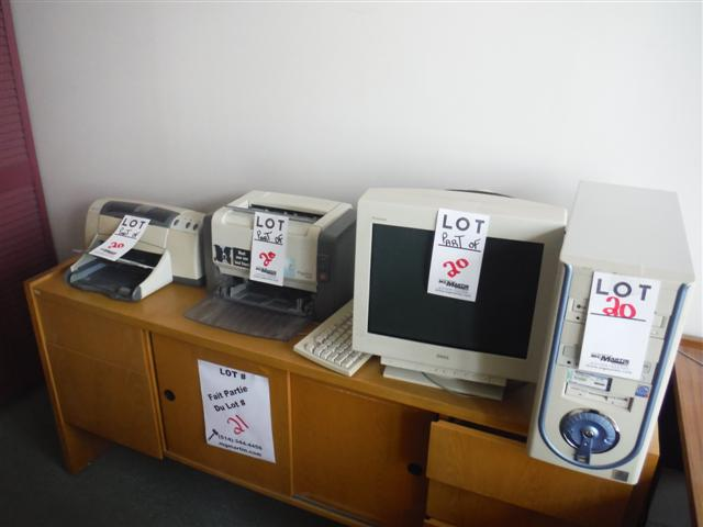 Lot 20 - ASST'D COMPUTER, MONITOR, PRINTERS, ETC.Sold as a lot
