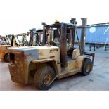 FORKLIFT, HYSTER 15,000 LB. CAP. MDL. H155XL, diesel pwrd., dual front solid rubber tires, S/N