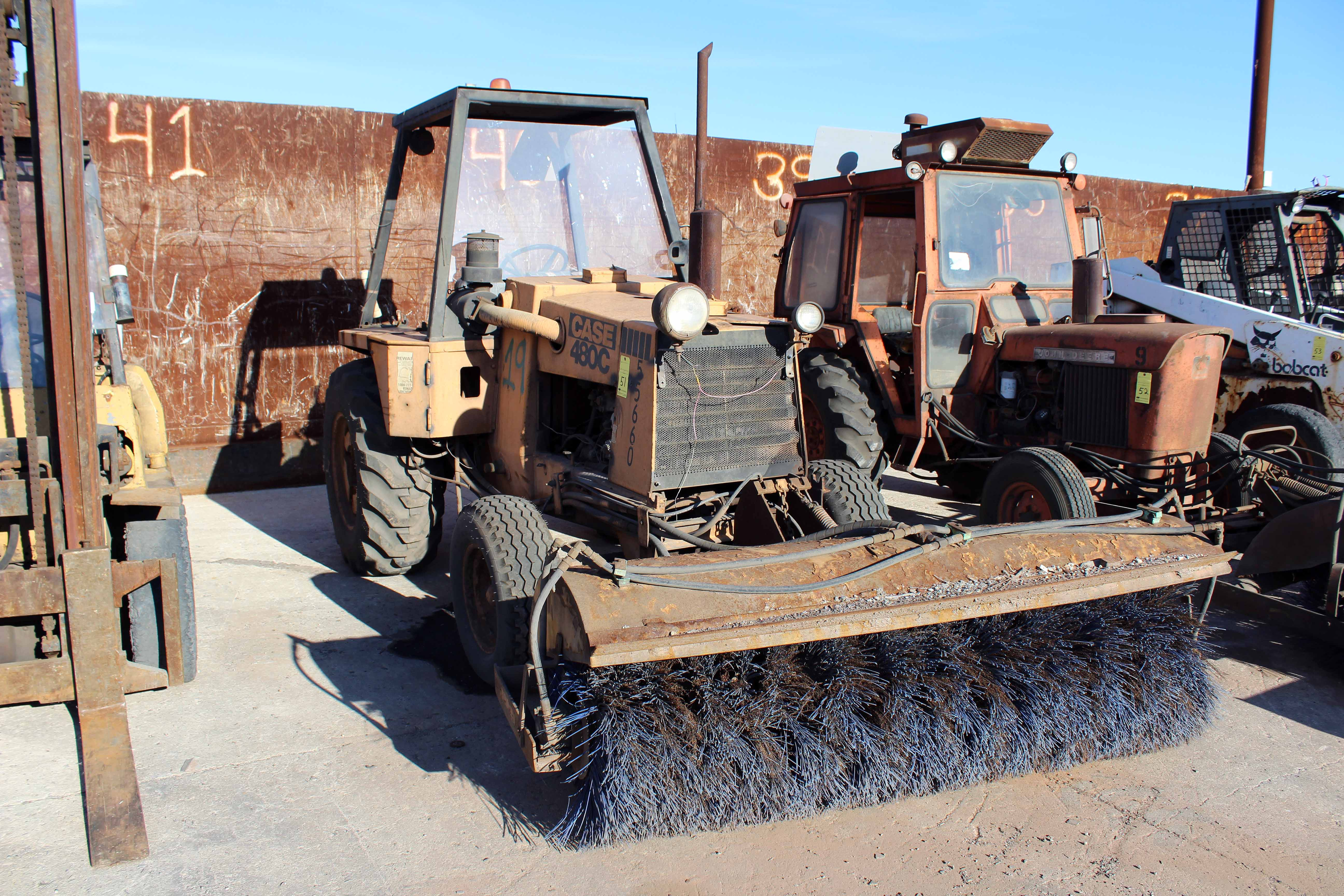 "Lot 51 - CASE MDL. 480C, w/60"" hyd. driven sweeper head"