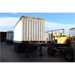 CONTAINER TRAILER FRAME, CUSTOM 20', triple axle, landing gear, open top container