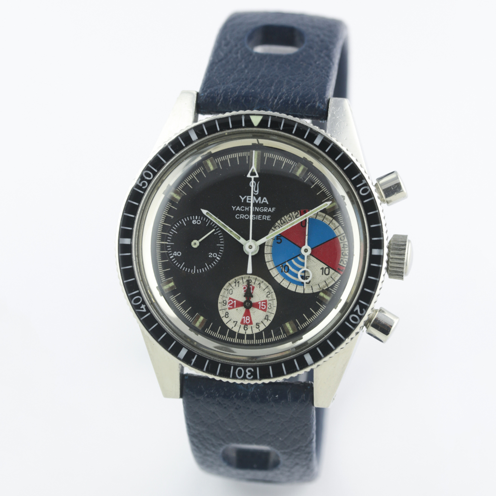 A VERY RARE GENTLEMAN'S STAINLESS STEEL YEMA YACHTINGRAF CROISIERE CHRONOGRAPH WRIST WATCH CIRCA - Image 4 of 12