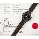 """Lot 180 - A RARE GENTLEMAN'S STAINLESS STEEL OMEGA SPEEDMASTER """"ED WHITE"""" CHRONOGRAPH WRIST WATCH DATED"""