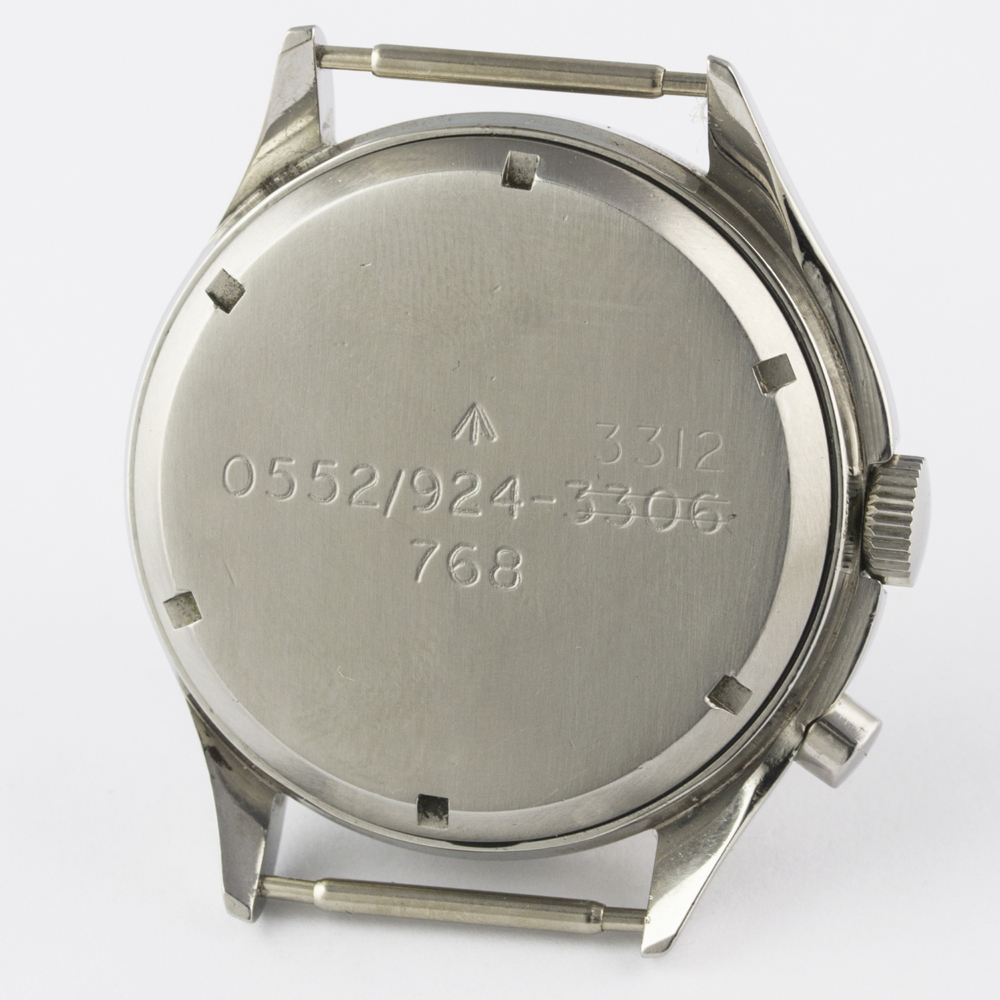 A VERY RARE GENTLEMAN'S STAINLESS STEEL BRITISH MILITARY LEMANIA SINGLE BUTTON ROYAL NAVY NUCLEAR - Image 8 of 10