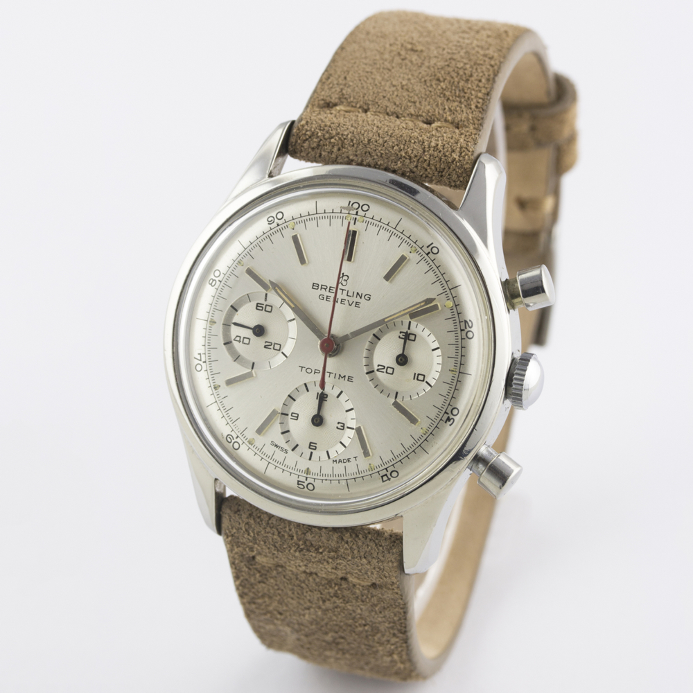 A VERY RARE GENTLEMAN'S STAINLESS STEEL BREITLING TOP TIME CHRONOGRAPH WRIST WATCH CIRCA 1964, - Image 6 of 10