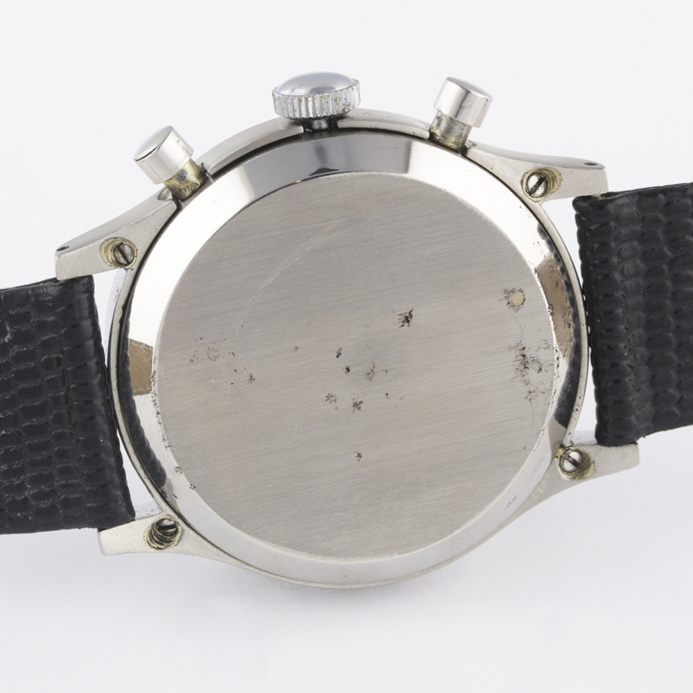 "A RARE GENTLEMAN'S LARGE SIZE STAINLESS STEEL CYMA WATERSPORT ""CLAMSHELL"" CHRONOGRAPH WRIST WATCH - Image 8 of 13"