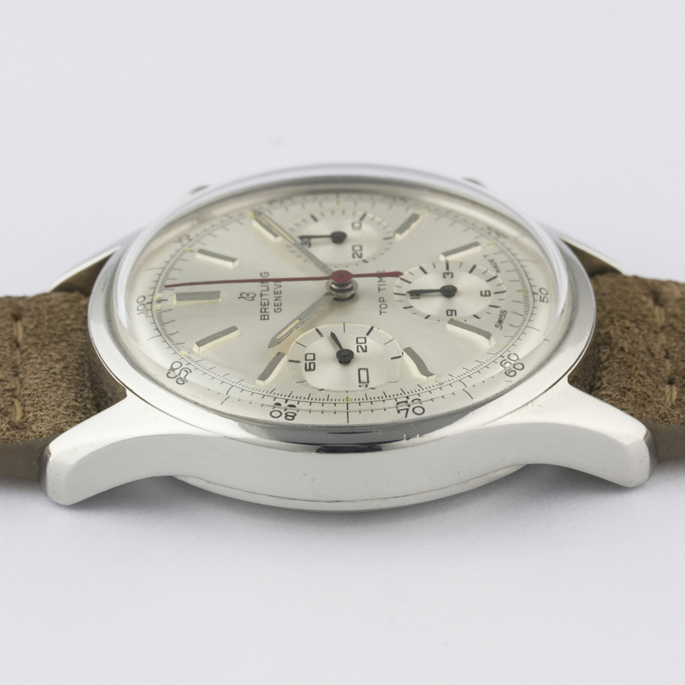 A VERY RARE GENTLEMAN'S STAINLESS STEEL BREITLING TOP TIME CHRONOGRAPH WRIST WATCH CIRCA 1964, - Image 10 of 10