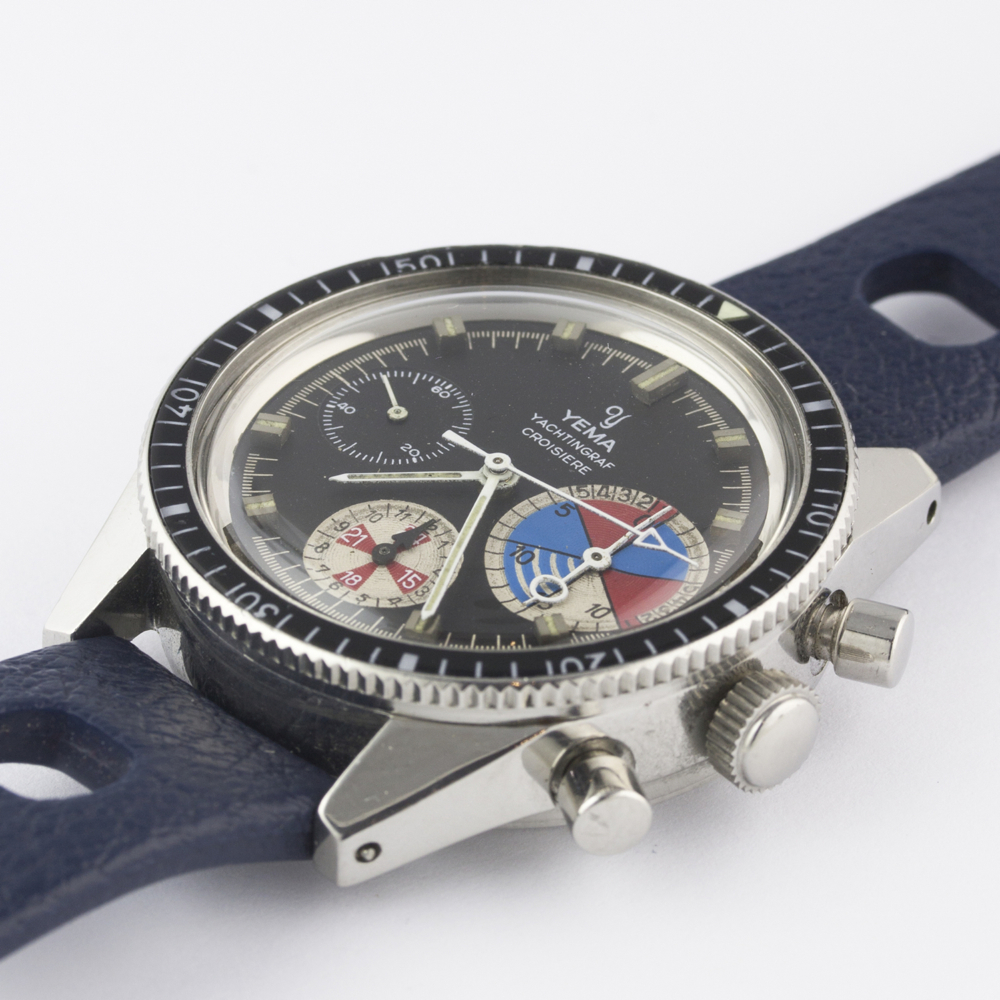 A VERY RARE GENTLEMAN'S STAINLESS STEEL YEMA YACHTINGRAF CROISIERE CHRONOGRAPH WRIST WATCH CIRCA - Image 5 of 12