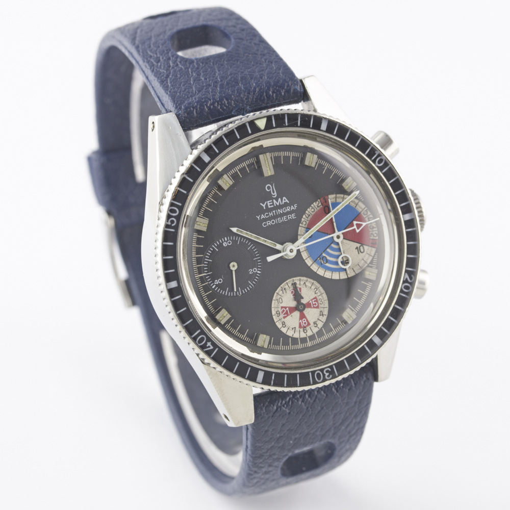 A VERY RARE GENTLEMAN'S STAINLESS STEEL YEMA YACHTINGRAF CROISIERE CHRONOGRAPH WRIST WATCH CIRCA - Image 7 of 12