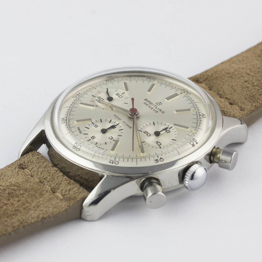 A VERY RARE GENTLEMAN'S STAINLESS STEEL BREITLING TOP TIME CHRONOGRAPH WRIST WATCH CIRCA 1964, - Image 5 of 10