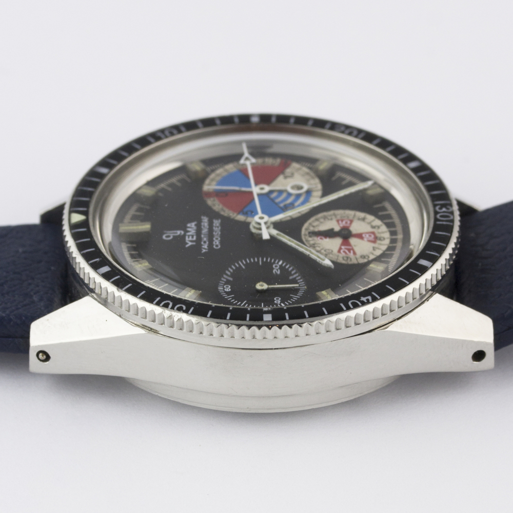 A VERY RARE GENTLEMAN'S STAINLESS STEEL YEMA YACHTINGRAF CROISIERE CHRONOGRAPH WRIST WATCH CIRCA - Image 12 of 12