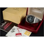 Lot 186 - A RARE GENTLEMAN'S STAINLESS STEEL OMEGA SPEEDMASTER 125 AUTOMATIC CHRONOGRAPH BRACELET WATCH