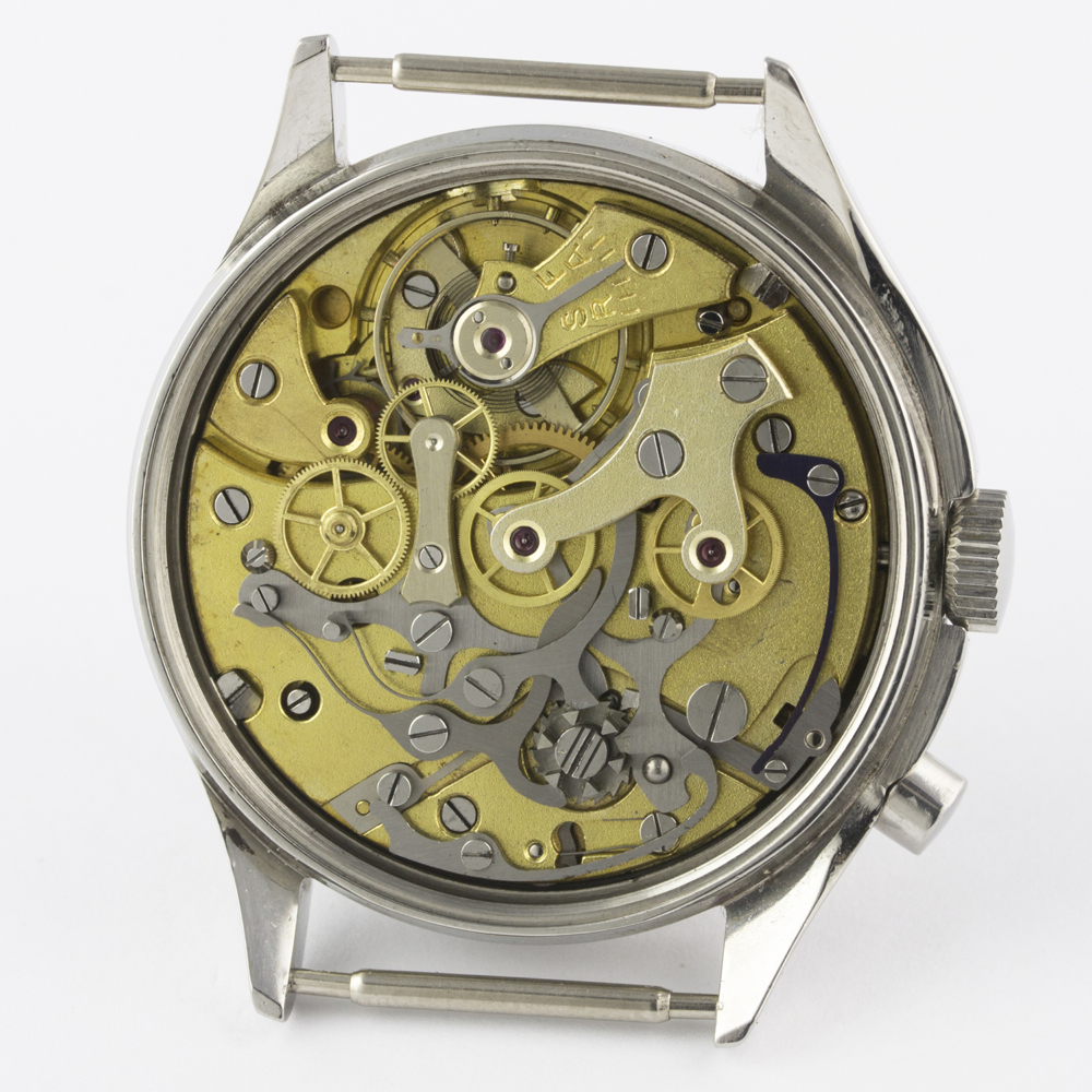 A VERY RARE GENTLEMAN'S STAINLESS STEEL BRITISH MILITARY LEMANIA SINGLE BUTTON ROYAL NAVY NUCLEAR - Image 9 of 10