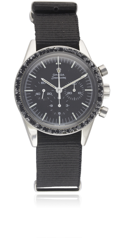 "Lot 188 - A GENTLEMAN'S STAINLESS STEEL OMEGA SPEEDMASTER ""ED WHITE"" CHRONOGRAPH WRIST WATCH CIRCA 1967,"