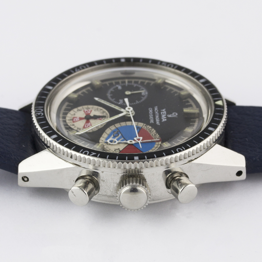 A VERY RARE GENTLEMAN'S STAINLESS STEEL YEMA YACHTINGRAF CROISIERE CHRONOGRAPH WRIST WATCH CIRCA - Image 11 of 12