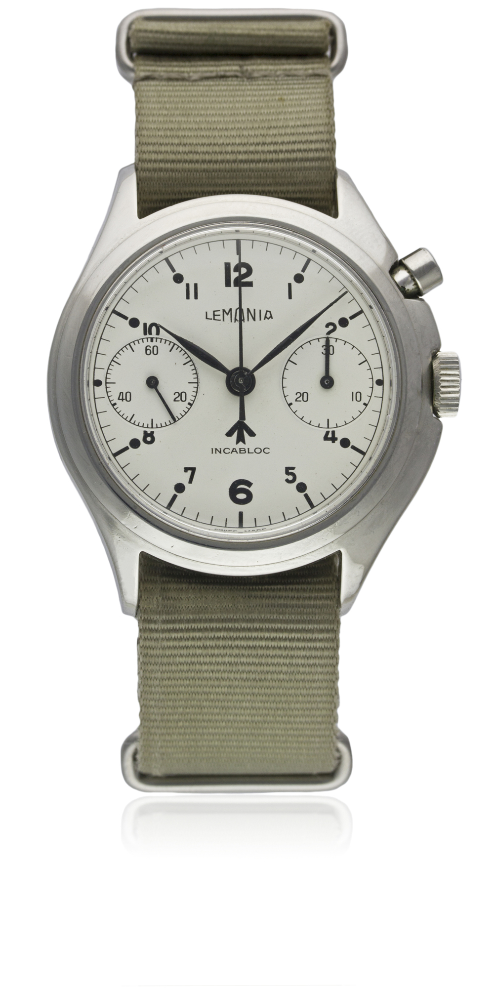 A VERY RARE GENTLEMAN'S STAINLESS STEEL BRITISH MILITARY LEMANIA SINGLE BUTTON ROYAL NAVY NUCLEAR - Image 3 of 10