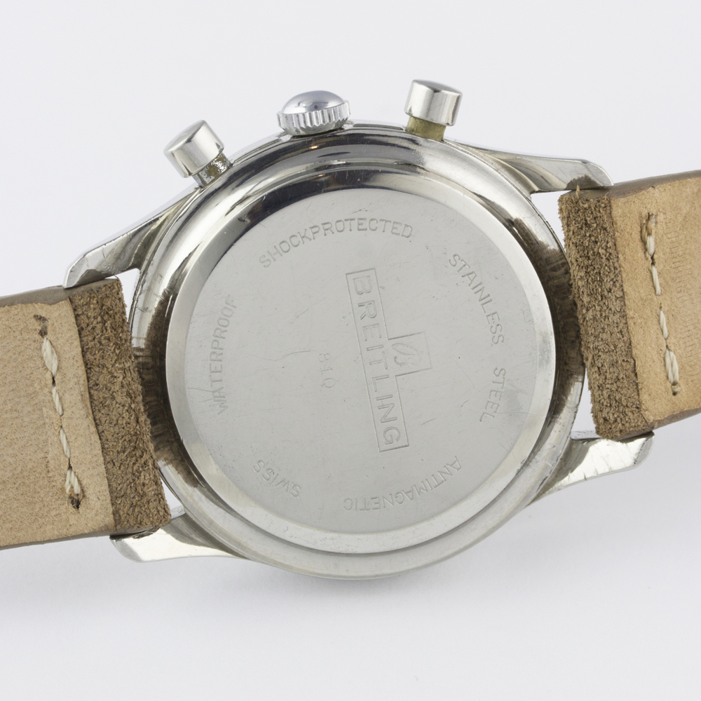 A VERY RARE GENTLEMAN'S STAINLESS STEEL BREITLING TOP TIME CHRONOGRAPH WRIST WATCH CIRCA 1964, - Image 8 of 10
