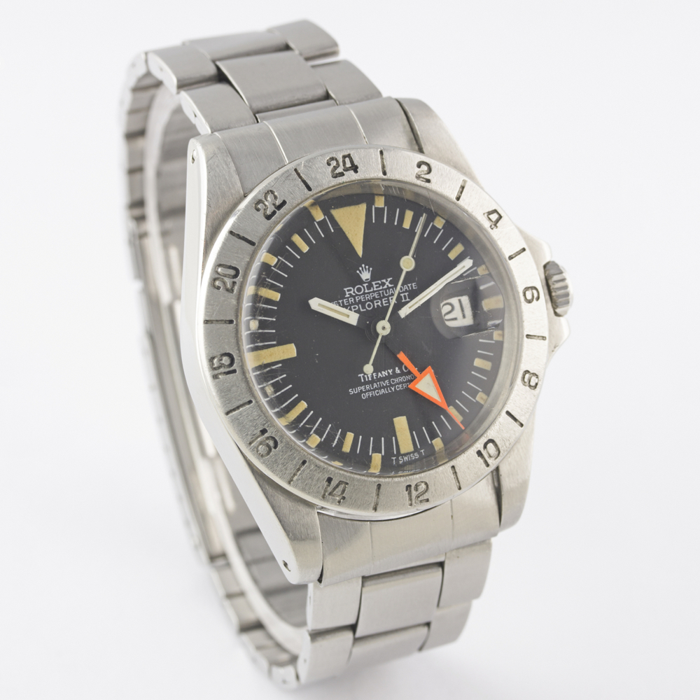 "A VERY RARE GENTLEMAN'S STAINLESS STEEL ROLEX OYSTER PERPETUAL DATE EXPLORER II ""ORANGE HAND"" - Image 7 of 13"