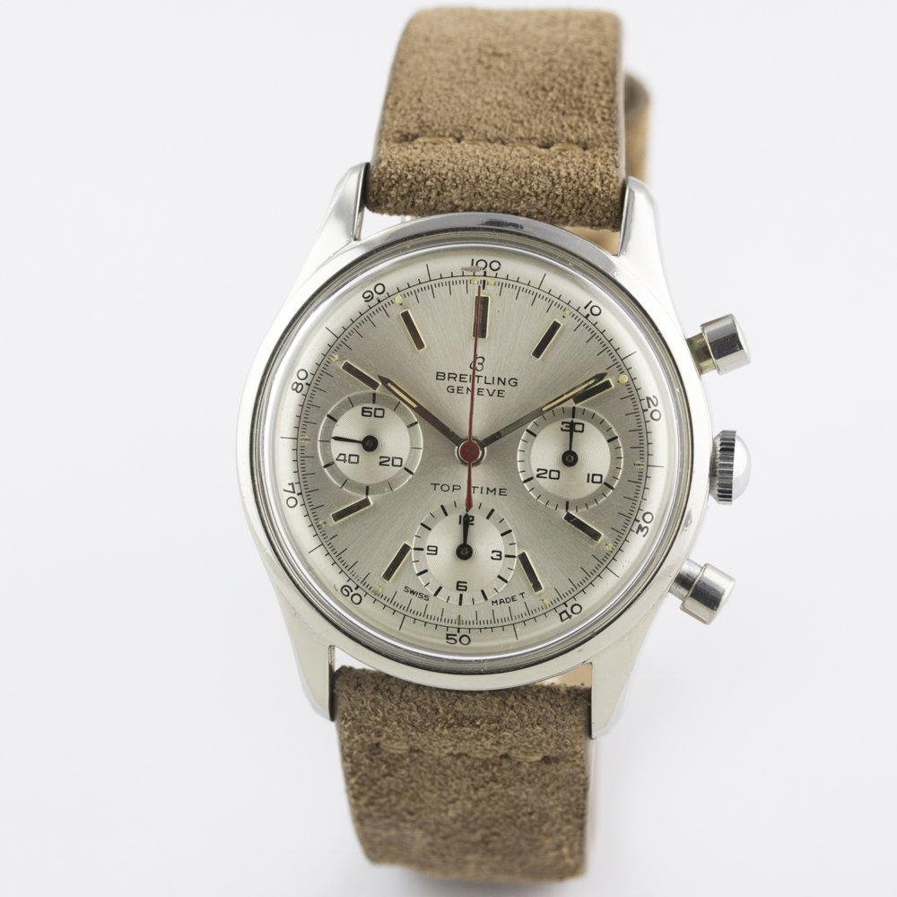 A VERY RARE GENTLEMAN'S STAINLESS STEEL BREITLING TOP TIME CHRONOGRAPH WRIST WATCH CIRCA 1964, - Image 4 of 10
