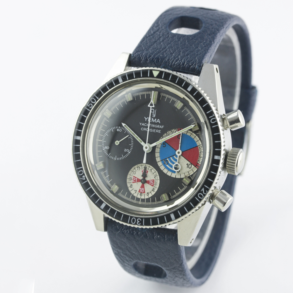 A VERY RARE GENTLEMAN'S STAINLESS STEEL YEMA YACHTINGRAF CROISIERE CHRONOGRAPH WRIST WATCH CIRCA - Image 6 of 12