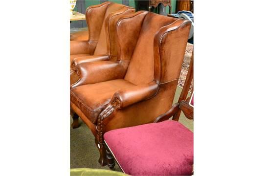 Modern John Lewis Compton Leather Wing Armchair Retail 1500
