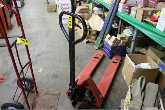 Multiton Type M50  5 000 Lb Narrow Fork Hydraulic Pallet Jack