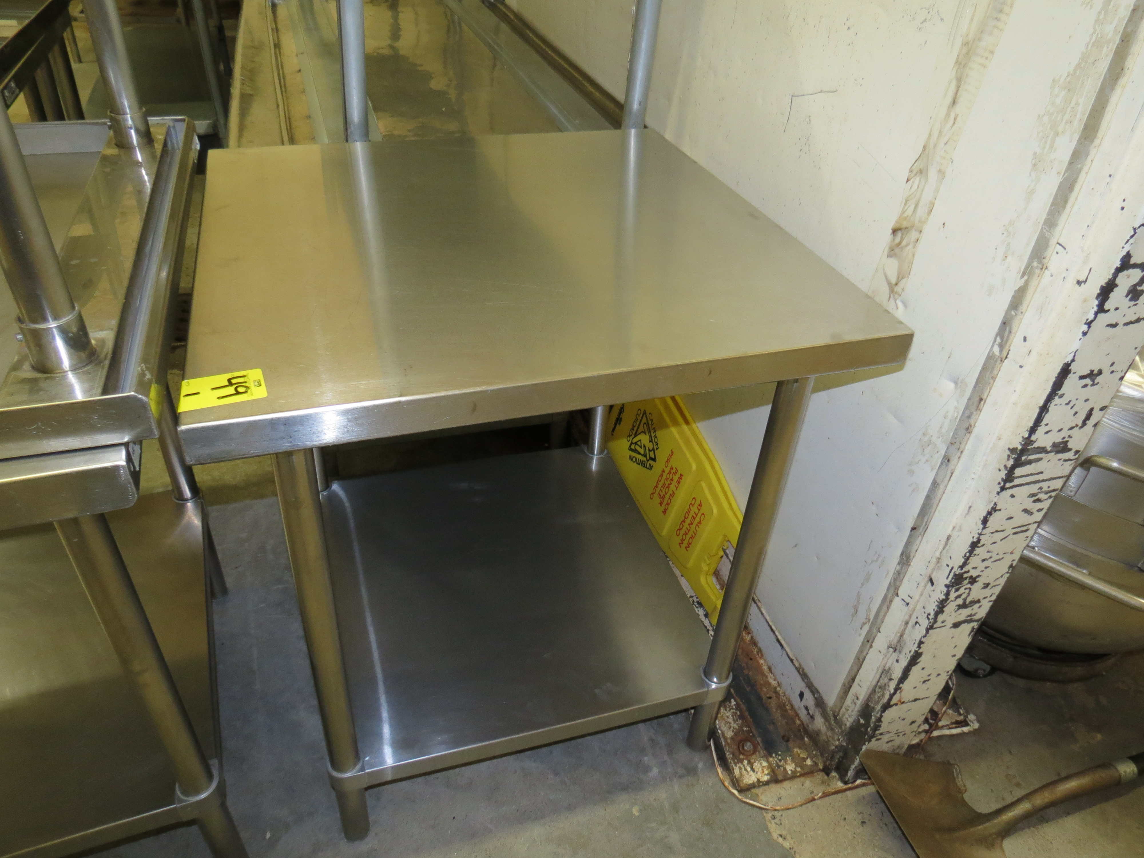 """Lot 49 - STAINLESS STEEL TABLE 30 """" X 30"""""""