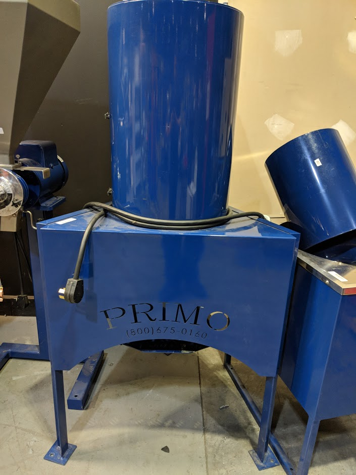 Lot 9 - 35 LB COFFEE ROASTER COMPLETE WITH CYCLONE, GPX GRINDER 200-600 LB PER HR 50 LB HOPPER ME-109 WEIGHT