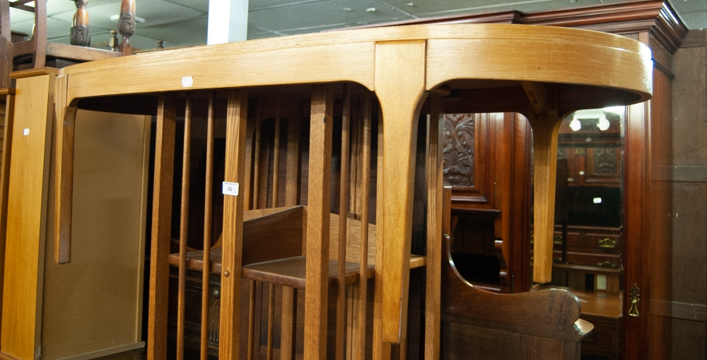 Lot 63 - A 1980's T.V. CABINET, ALSO TWO WINDOW FRAMED WALL MIRRORS, A 1970's TEAK EFFECT OVAL COFFEE