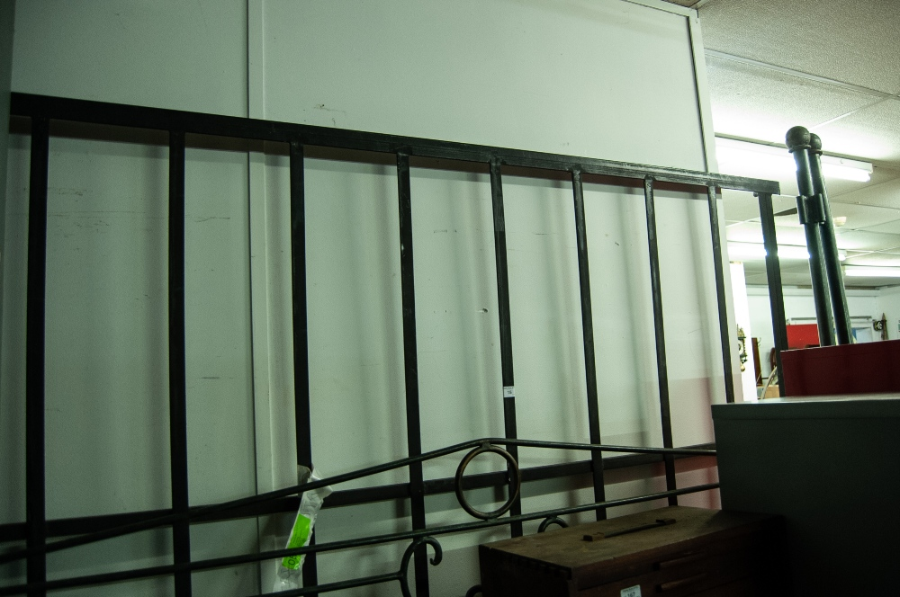 """Lot 15 - A 6'6"""" WROUGHT IRON BED FRAME, WITH SCROLL DETAIL"""