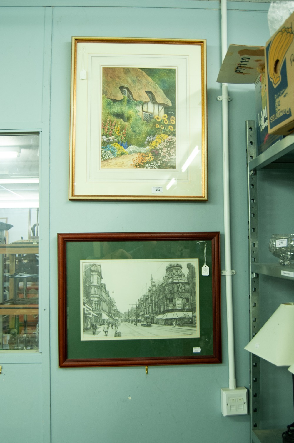 """Lot 404 - J. PILLING (MODERN) PENCIL DRAWING A Yorkshire townscape with trams, SIGNED AND DATED (19) 77 10"""""""